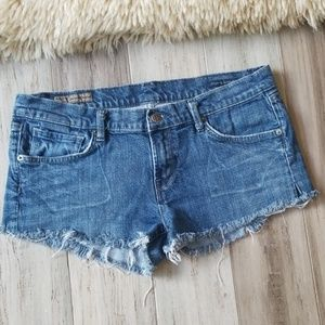 COH Low Rise Cut Off Denim Shorts